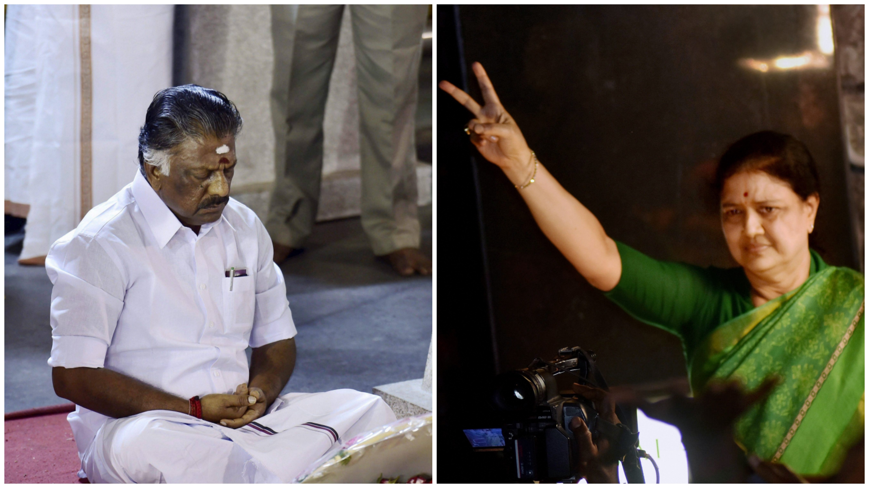 Sasikala and Panneerselvam Vie For Party Loyalty As Drama Continues to Unfold in Tamil Nadu