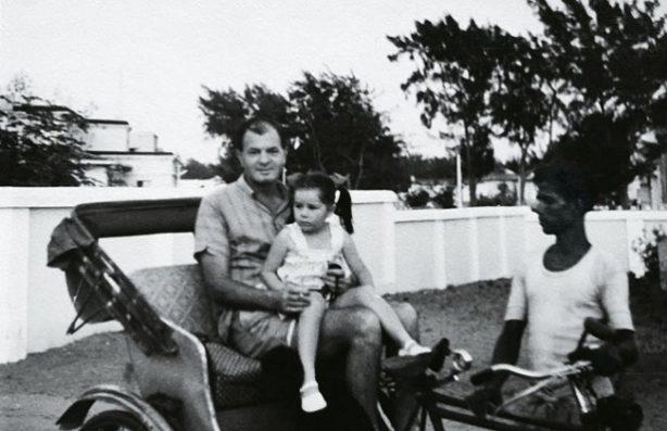 Calcutta Days: Michelle Somerville and her father, Jack. Credit: Michelle Somerville