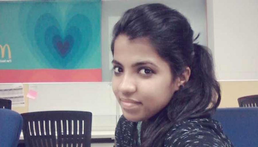 File photo of Infosys employee Rasia Raju who was allegedly killed by a company security guard.