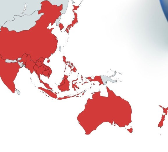 The RCEP region consists of the ASEAN countries plus India, Australia, New Zealand, Japan and South Korea