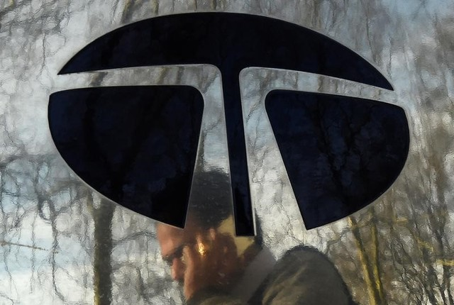 A man walks past a Tata sign in London, Britain March 30, 2016. Credit: Reuters