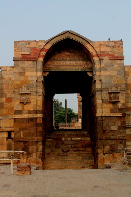 The Eastern Gate of the Qutb Mosque which carries the controversial foundational inscription.