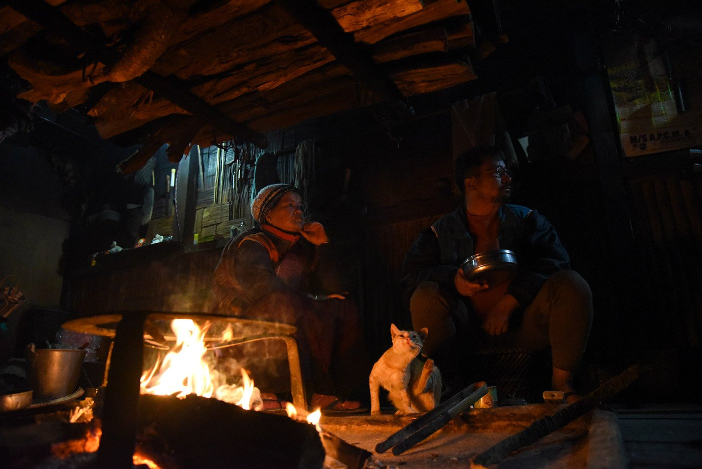 Narang Tam and Yamang's house – I stayed here for two nights, and they served traditional Apatani food – rice is the main item in their meals, and is usually accompanied by meat (pork, chicken, rat) and other delicacies.