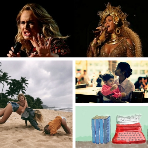 Beyonce, Adele, Fillerupclark, a nanny, Name-Place-Animal-Thing. Credit: Reuters, Flickr, Twitter