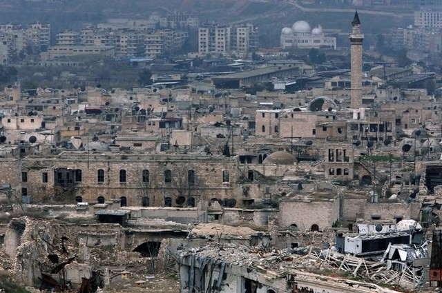 A view shows the damage in the old city of Aleppo as seen from the city's ancient citadel, Syria January 31, 2017. Picture taken January 31, 2017. Credit: Reuters