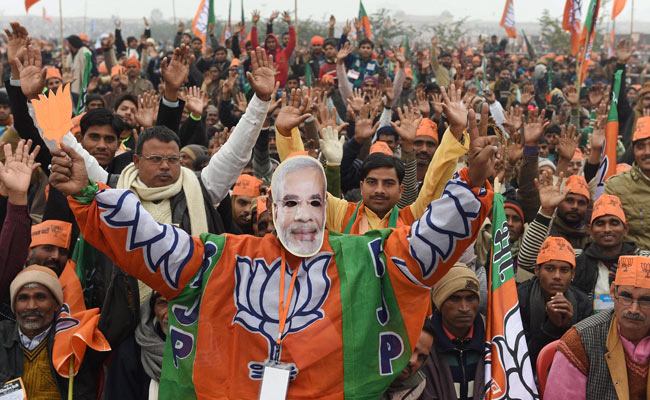 A BJP rally in Lucknow. Credit: PTI