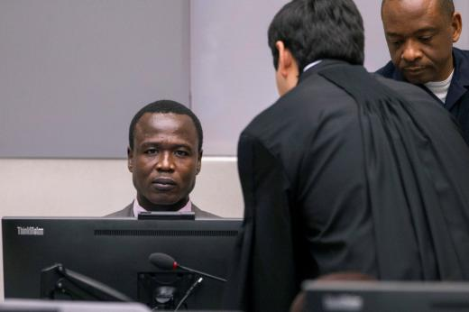Dominic Ongwen, a former senior rebel commander from the Lord's Resistance Army in Uganda, stands in the courtroom of the International Criminal Court (ICC) during the confirmation of charges in The Hague, the Netherlands January 21, 2016. Credit: Reuters