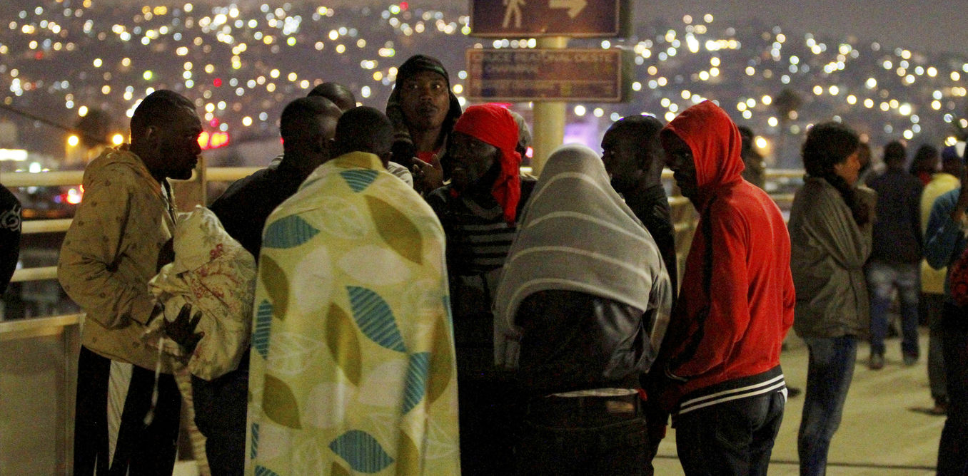 Haitians migrants wait to make their way to the US and seek asylum at the San Ysidro Port of Entry in Tijuana, Mexico, July 15, 2016. Credit: Reuters
