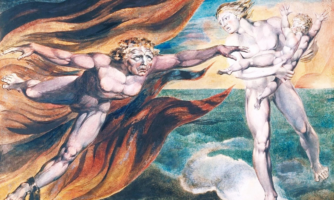 William Blake, The Good and Evil Angels 1795–c.1805. Credit: CC-BY-NC-ND