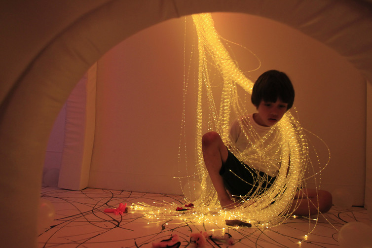 Relaxation rooms that deliver different stimuli using lighting effects, colour and sounds – can help calm autistic students. Credit: Pilar Olivare/Reuters
