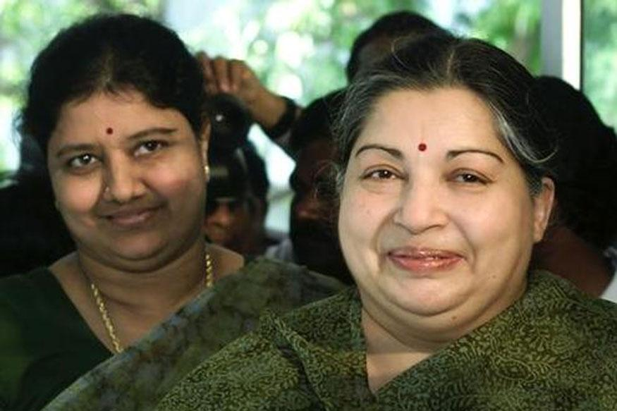 V.K. Sasikala with late Tamil Nadu chief minister J. Jayalalithaa. Credit: Reuters/Files