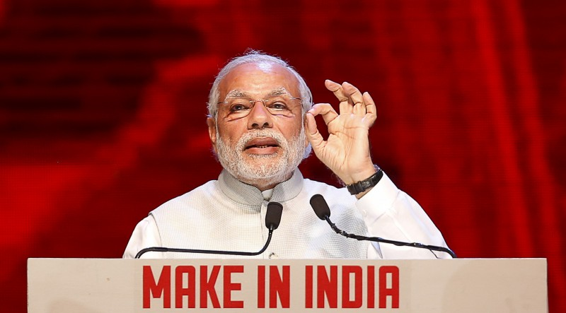 Prime Minister Narendra Modi speaks during the inauguration ceremony of the 'Make In India' week in Mumbai, February 13, 2016. Credit: Danish Siddiqui/Reuters/Files