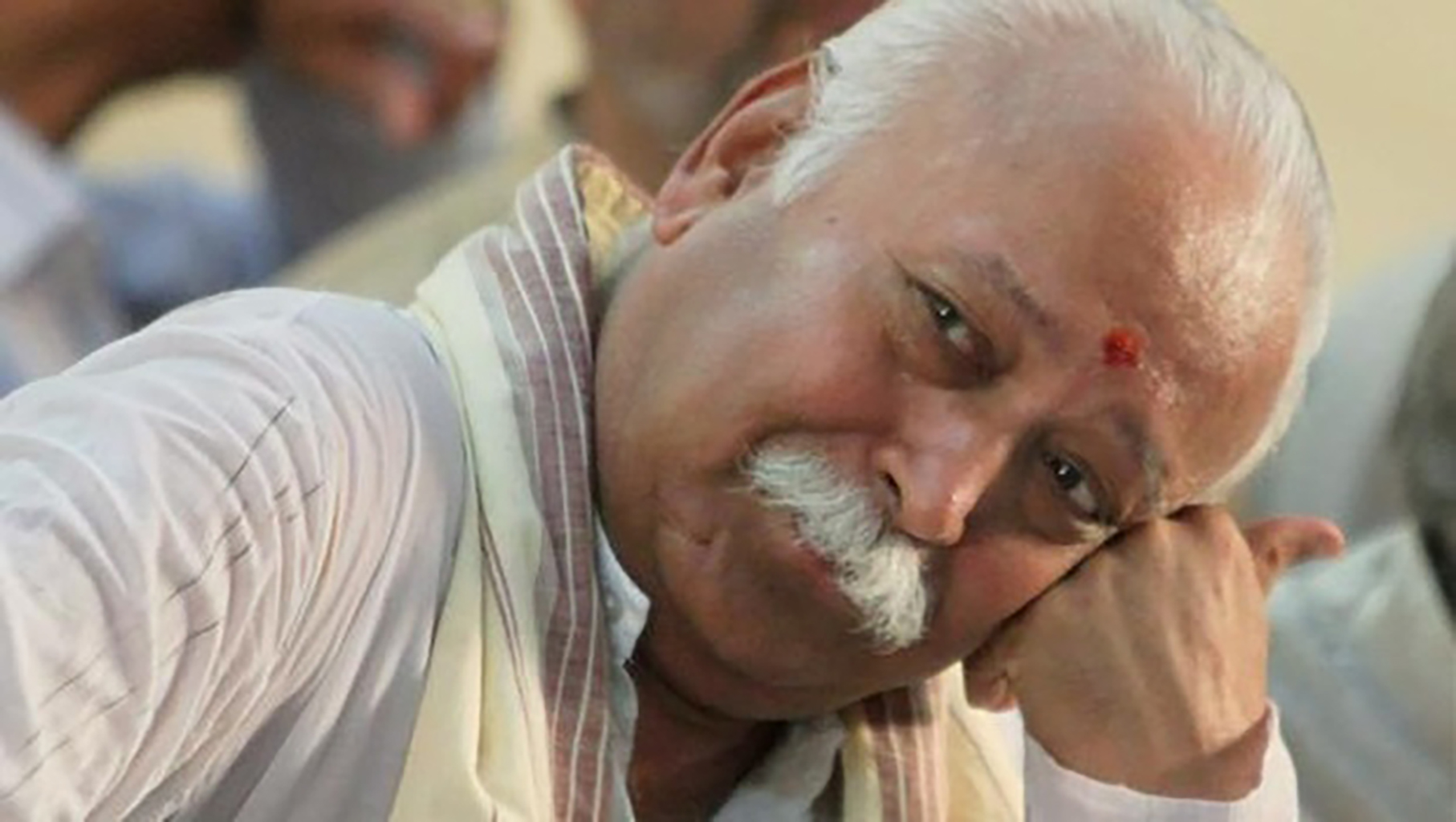 We always knew Mohan Bhagwat was a man of faith. Now he has shown us he is a man capable of great leaps of faith. Credit: PTI