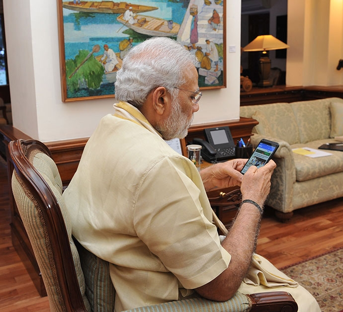 It's Not What Modi Is Tweeting – It's What He Is Reading