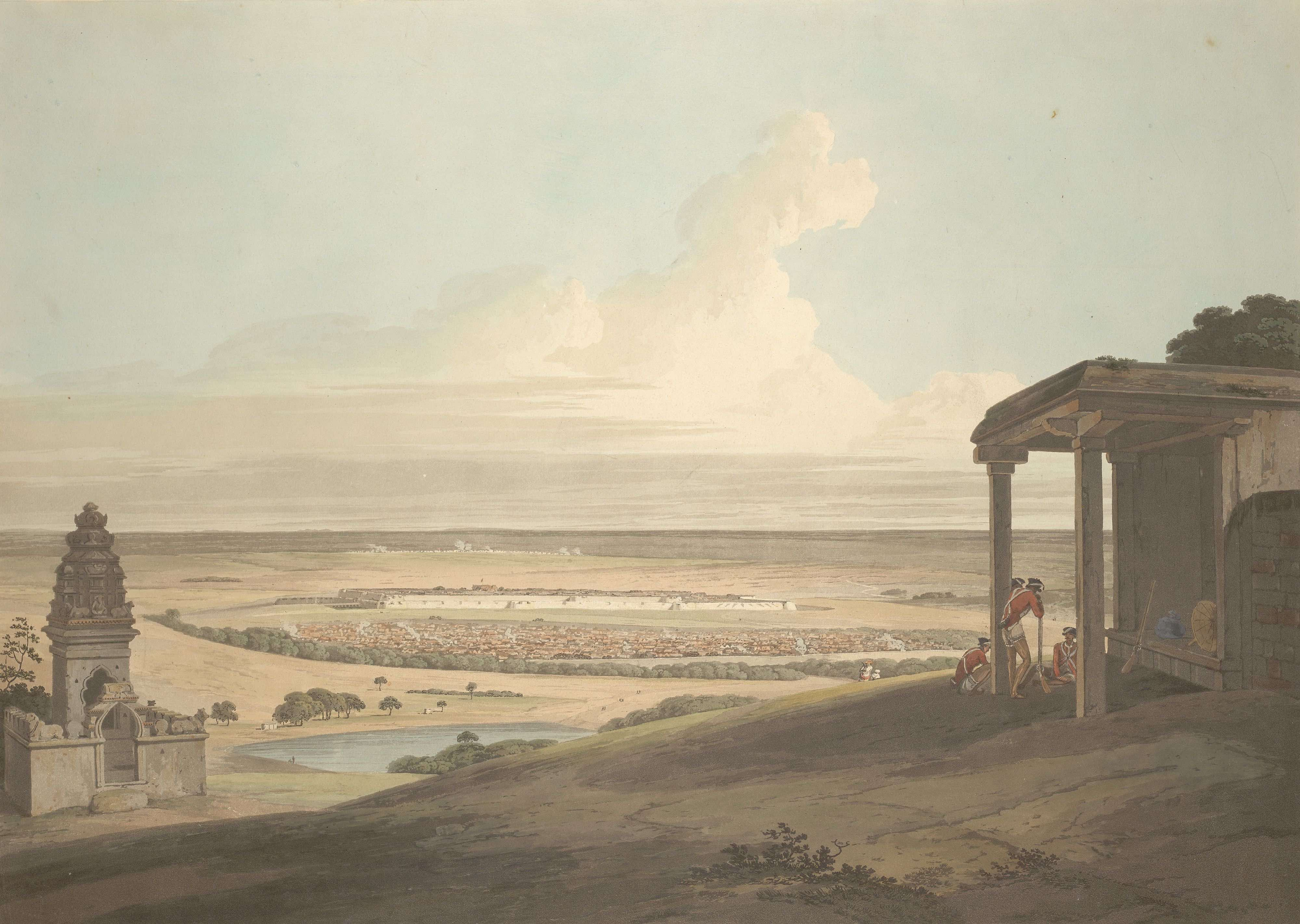Thomas Daniell, Ousoor in the Mysore. Credit: British Library