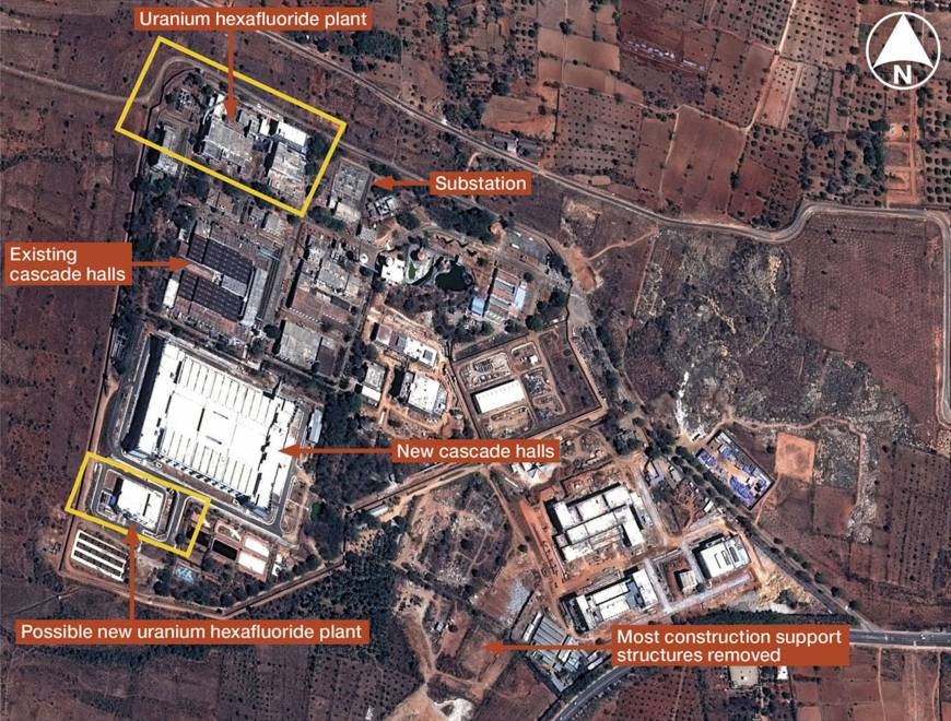 This satellite image provided by the defence research group IHS Jane's shows the Indian Rare Metals Plant near Mysore in Karnataka. Credit: Reuters