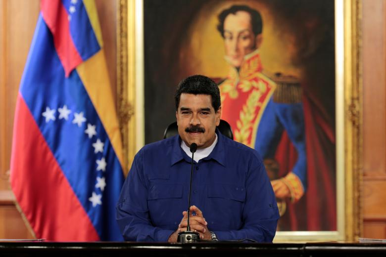Venezuela's President Nicolas Maduro speaks during a meeting with ministers at Miraflores Palace in Caracas, Venezuela on February 9, 2017. Credit: Reuters/Miraflores Palace