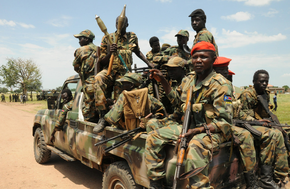 sudan's people liberation army forces on patrol