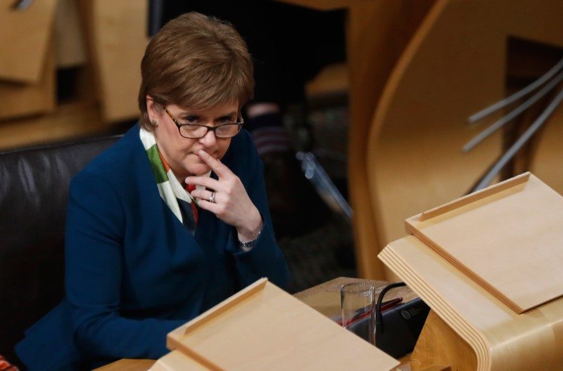 Scotland's First Minister Nicola Sturgeon attends the Brexit debate in the Scottish Parliament Edinburgh Scotland, Britain January 17, 2017. Credit: Russell Cheyne/Reuters