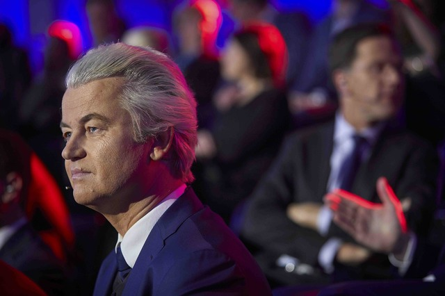 Dutch far-right politician Geert Wilders of the PVV party attends a debate in The Hague, Netherlands, March 14, 2017. Credit: Reuters/Phil Nijhuis/Pool