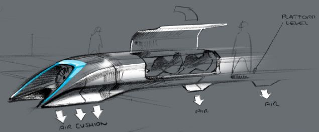 An illustration of a Hyperloop pod. Credit: samchurchill/Flickr, CC BY 2.0