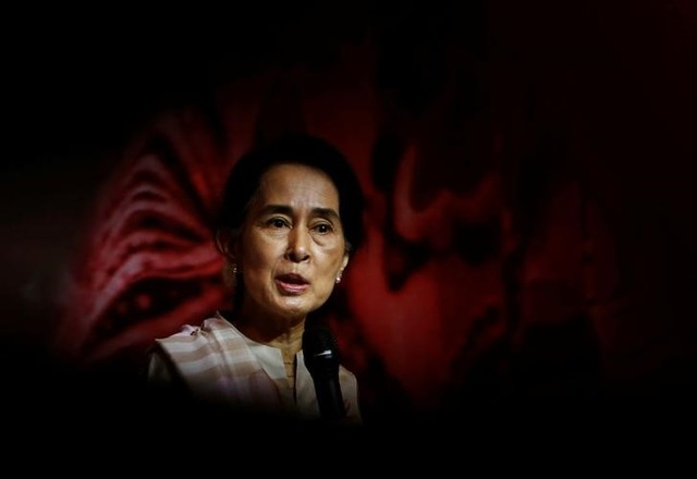 A Year Into Power Myanmar's Suu Kyi Acknowledges Slow Pace of Reforms