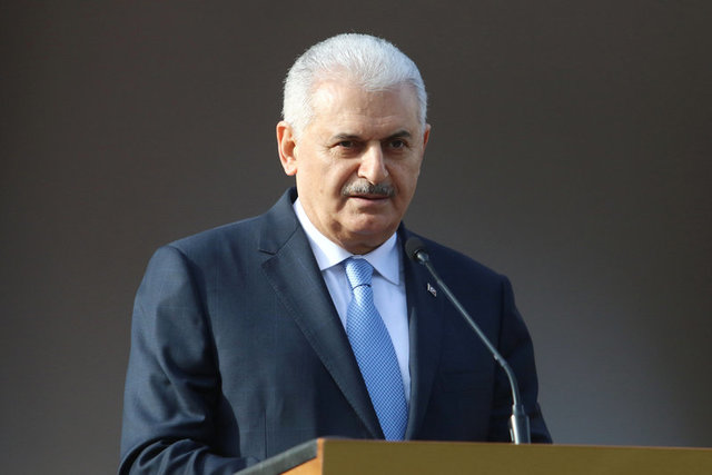 Turkish Prime Minister Binali Yildirim speaks to the media during a visit in Nicosia, northern Cyprus March 9, 2017. Credit: Reuters