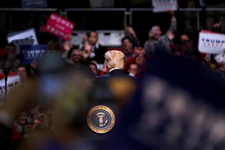 US President Donald Trump holds a rally at Municipal Auditorium in Nashville, Tennessee, US March 15, 2017. Credit: Reuters/Jonathan Ernst/Files