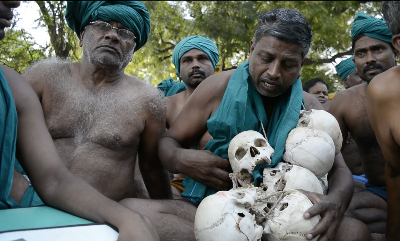 Watch: Why Farmers Are Protesting With Human Skulls at Jantar Mantar