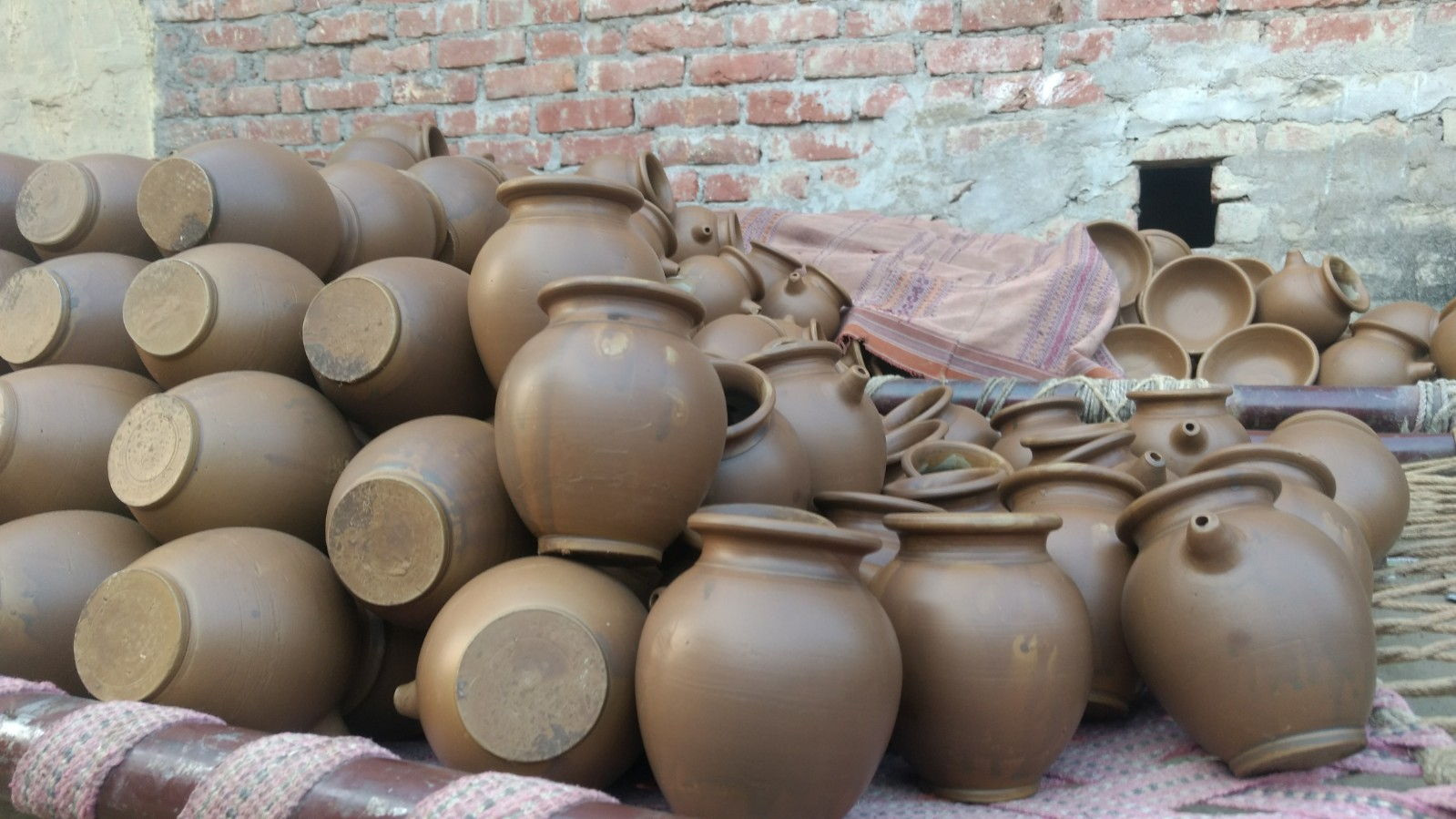 The black clay pottery that Nizamabad is famous for. Credit: Titash Sen