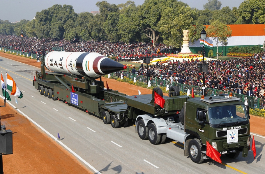 India's Agni III missile is seen during the Republic Day parade in New Delhi January 26, 2008. Credit: Reuters