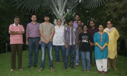 Dhawan's current lab members. Credit: Jyotsna Dhawan