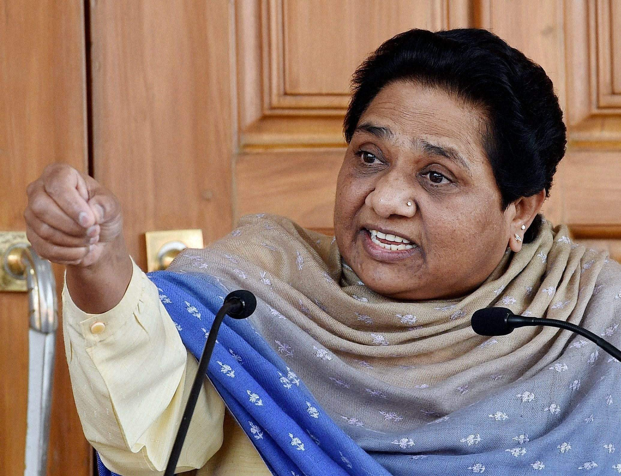 BSP leader Mayawati has alleged that the EVM machines have registered only BJP votes and demanded a re-election. Credit: PTI/Files