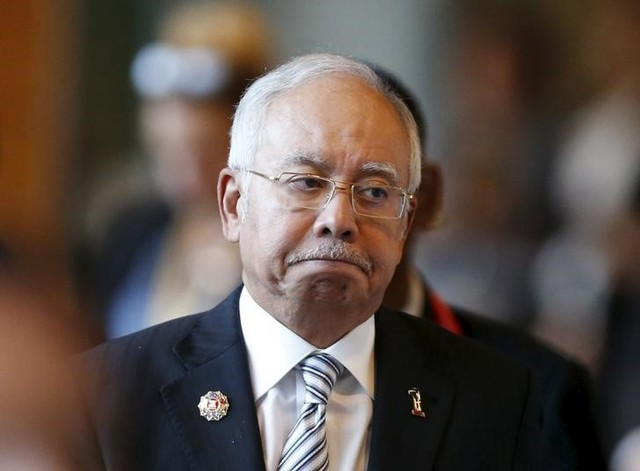 Malaysia's Prime Minister Najib Razak arrives at a session of the 27th Association of Southeast Asian Nations (ASEAN) summit in Kuala Lumpur, November 21, 2015. Credit: Reuters