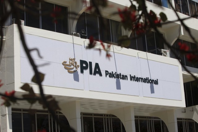 The logo of Pakistan International Airlines (PIA) is seen in Islamabad, Pakistan, April 12, 2016. Credit: Reuters/Faisal Mahmood/Files