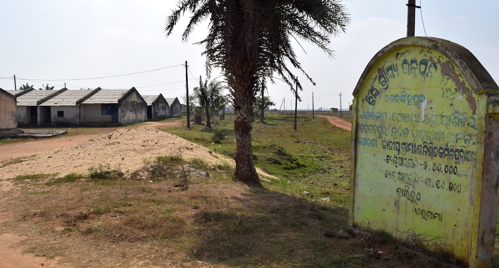 A transit camp lies abandoned after supporters of the Posco project were evicted. Credit: Basudev Mahapatra/Village Square