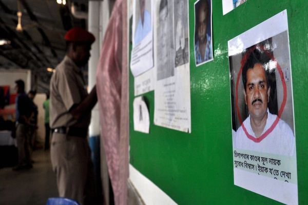 Poster of Subodh Biswas in a Guwahti locality Photo-PTI