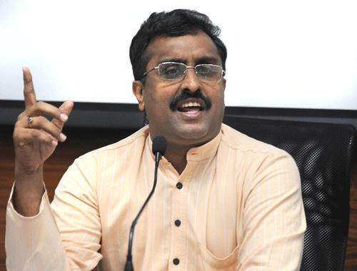 Ram Madhav, the BJP's troubleshooter for the north-east. Credit: PTI