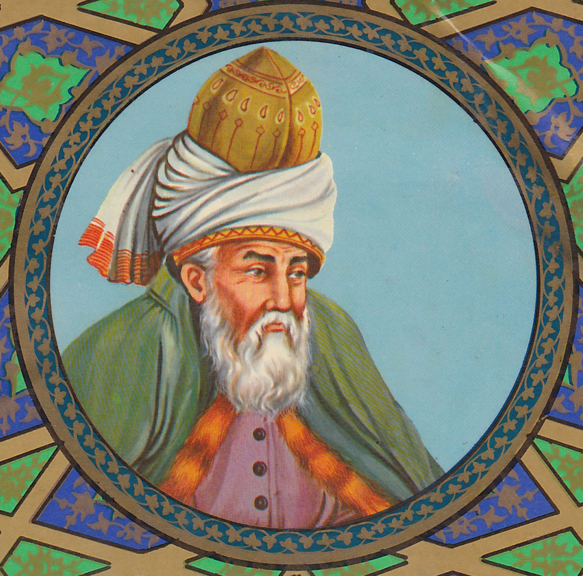 A paintaing of Rumi. Credit: Wiimedia Commons