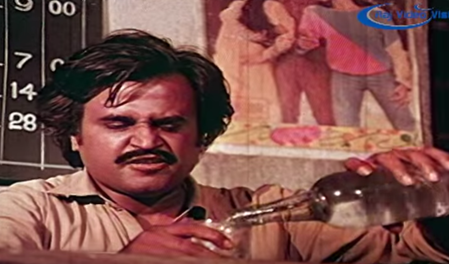 Rajinikanth in Padikkadavan (1985). Source: YouTube