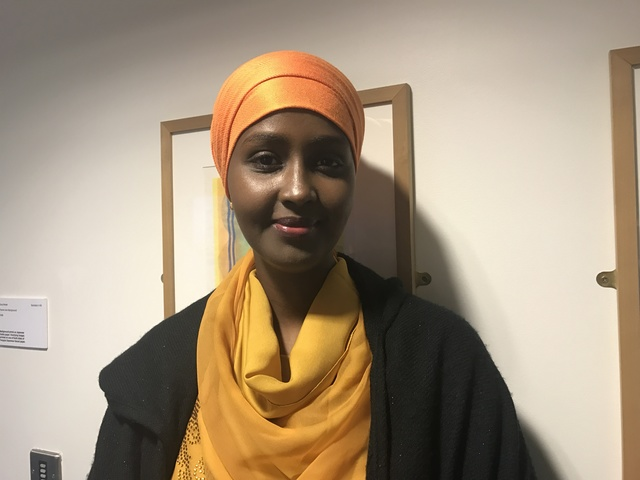 Fadumo Dayib, the first female to run for President in Somalia, at a conference at the London School of Economics and Political Science in London, on March 7th, 2017. Credit: Reuters