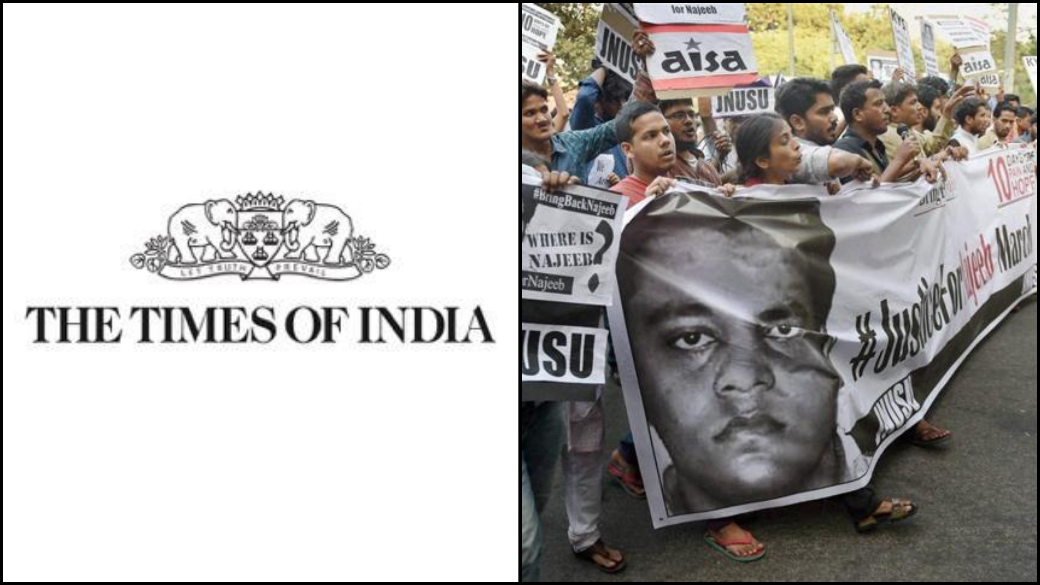 TOI Slammed for 'Fake News' Linking Missing JNU Student Najeeb Ahmed to ISIS