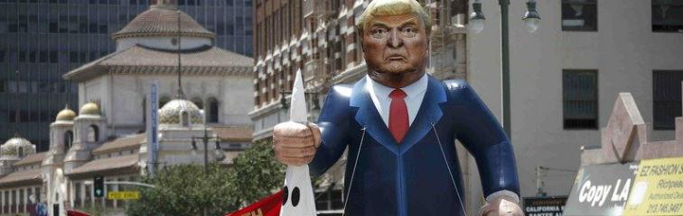 TRump effigy Reuters carousel