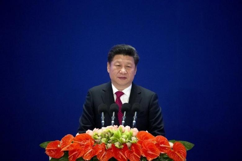 Chinese President Xi Jinping speaks during the opening ceremony of the Asian Infrastructure Investment Bank (AIIB) in Beijing, China, January 16, 2016. Credit: Reuters/Mark Schiefelbein/Pool