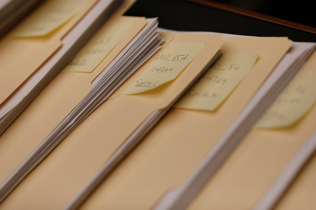 Copies of amendments offered during a marathon House Energy and Commerce Committee hearing on a potential replacement for the Affordable Care Act are seen on Capitol Hill in Washington March 9, 2017. Credit: Reuters