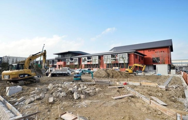 The construction site for an elementary school of Moritomo Gakuen, an educational institution, is seen in Toyonaka, Osaka, Japan February 18, 2017, in this photo taken by Kyodo. Credit: Reuters
