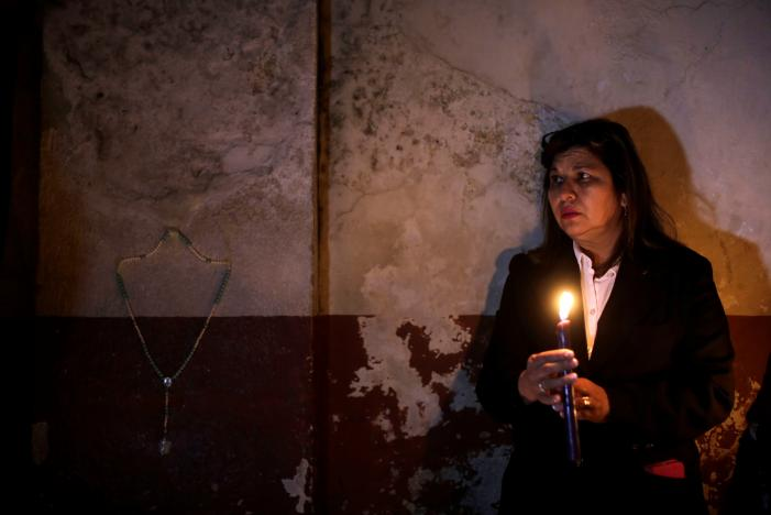 Candles are lit during a vigil for victims after a fire broke at the Virgen de Asuncion home in San Jose Pinula on the outskirts of Guatemala City, March 8, 2017. Credit: Saul Martinez/Reuters