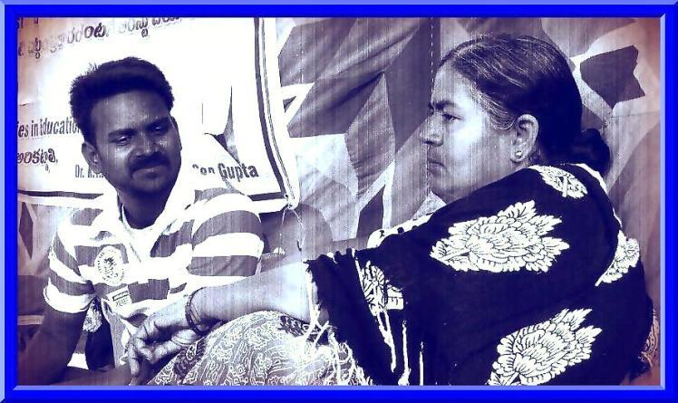 Rajni Krish with Rohith Vemula. Credit: dalitliteraturefromkrish.wordpress.com