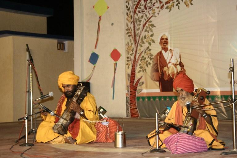 Two Muslim yogis performing. Credit: Manoj Singh