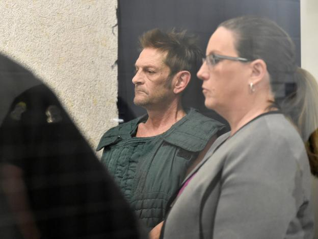 Adam Purinton, 51, accused of killing Srinivas Kuchibhotla, 32, and wounding Alok Madasani, 32, as well as an American who tried to intervene, appears with his public defender Michelle R. Durrett (R) via video conference from jail during his initial court appearance in Olathe, Kansas, US, February 27, 2017.  Credit: Jill Toyoshiba/Reuters